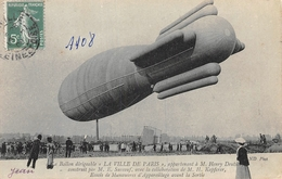 Le Ballon Dirigeable La Ville De Paris 1908 - Dirigeables