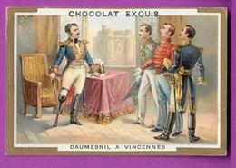Chromo Image CHOCOLAT EXQUIS -  Grand Evénements - Daumesnil Au Fort De Vincennes (encadré Doré) - Unclassified