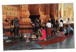 Thailandia Wat Phra Keo Or Temple Of Emerald Buddha Bangkok Non Viaggiata Condizioni Come Da Scansione - Tailandia