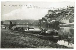 Namêche - Rocher Et Trou Des Nutons - Péniche Louise Braeckmans - Edit. Imprimerie économique O. Groyne - 2 Scans - Andenne