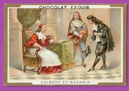 Chromo Image CHOCOLAT EXQUIS -  Grand Evénements - Colbert Présenté Au Cardinal Mazarin (encadré Doré) - Unclassified