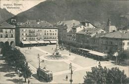 Cartoline Bozen Bolzano Straßenbahn - Walterplatz 1912  - Unclassified