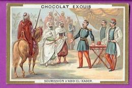 Chromo Image CHOCOLAT EXQUIS -  Grand Evénements - Soumission D'Abd El Kader (encadré Doré) - Cioccolato