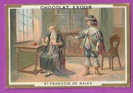 Chromo Image CHOCOLAT EXQUIS -  Grand Evénements - Saint François De Salles Et Ses Vieux Habits (encadré Doré) - Unclassified