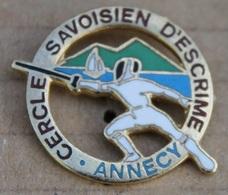 CERCLE SAVOISIEN D'ESCRIME - ANNECY - FRANCE - ESCRIMEUR -   (21) - Scherma