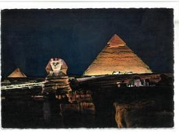 Egypt U.A.R. Giza Sphinks And Pyramids  Non Viaggiata Condizioni Come Da Scansione - Gizeh