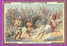 Chromo Image CHOCOLAT EXQUIS -  Grand Evénements - Défaite Des Kroumirs  (encadré Doré) - Unclassified