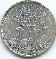 Egypt - Hussein Kamil - AH1335 (1917) -2 Piastres - KM317.2 Without Inner Circle - Egypt