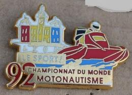 MOTONAUTISME - CHAMPIONNAT DU MONDE 92 LYON - FRANCE -  LE SPORT - AB  -   (21) - Pin