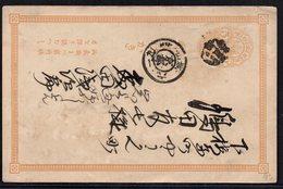 JAPAN, RARE CARTE POSTALE POSTCARD GANZSACHEN - Storia Postale