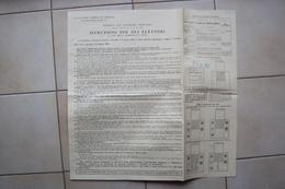 VOLANTINO PERIODO OCCUPAZIONE ANGLO AMERICANA TLT ZONA A FTT ELEZIONI DI TRIESTE 1949 TERRITORIO LIBERO - Vecchi Documenti