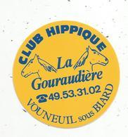 Autocollant , Sports , équitation ,  Club Hippique LA GOURAUDIERE , 86, VOUNEUIL SOUS BIARD - Stickers