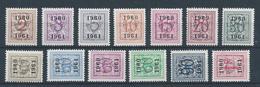 PRE 53  (699/711) **       Cote 33.00 - Tipo 1951-80 (Cifra Su Leone)