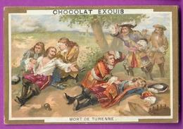 Chromo Image CHOCOLAT EXQUIS -  Grand Evénements - Mort De Turenne (encadré Doré) - Unclassified