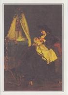 PGR-5-G:A. STEVENS ##Moederweelde / Richesse De La Maternité (détail)##:ART,PAINTING,MOTHER & CHILD,BREAST FEEDING,CRIB, - Enfance & Jeunesse
