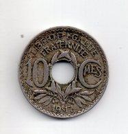 REF 1  : Monnaie COIN France 10 Centimes Lindauer 1917 - D. 10 Centimes