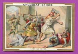 Chromo Image CHOCOLAT EXQUIS -  Grand Evénements - Le Grand Ferré  (encadré Doré) - Unclassified