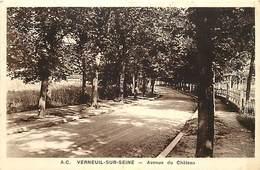 -dpts Div -ref-AJ894- Yvelines - Verneuil Sur Seine - Avenue De Chateau - Carte Bon Etat - - Verneuil Sur Seine
