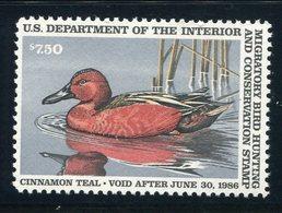 US Sc# RW52 MNH FVF  Cinnamon Teal - Duck Stamps