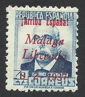 Spain, Malaga 40 C. 1937, Sc # 10L16, Mi # 16, MH - Nationalist Issues