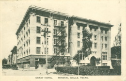 Bildpostkarte Crazy Hotel Mineral Wells TX 1908 - Vereinigte Staaten