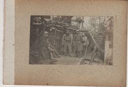 4 Photos Guerre 1914 1918   Poilus Du 316e Ri Vannes Bretagne - 1914-18