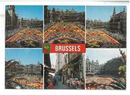 Belgio  Brussels  6 Vedute Un Bonjour De Bruxelles Non Viaggiata Condizioni Come Da Scansione - Panoramische Zichten, Meerdere Zichten