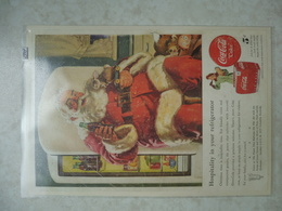 Affiche Publicitaire Coca Cola 25cm Sur16 ( Pere Noel ) 1947 Copyright / Reclamaffiche Cola - Affiches Publicitaires