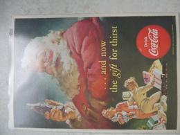 Affiche Publicitaire Coca Cola 25cm Sur16 ( Pere Noel ) 1952 Copyright / Reclamaffiche Cola - Advertising Posters