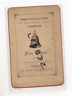 FAIRE PART - 28 - BOUTIGNY - BENEDICTION De La Cloche De La Chapelle N. D. Du Rosaire 19 Octobre 1890 - Birth & Baptism