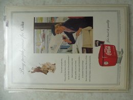 Affiche Publicitaire Coca Cola 25cm Sur16 ( Aeroport ) 1953 Copyright / Reclamaffiche Cola - Manifesti Pubblicitari