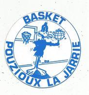 Autocollant , Sports , Basket, 86 , Vienne ,  POUZIOUX LA JARRIE - Stickers