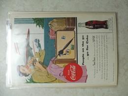 Affiche Publicitaire Coca Cola 25cm Sur16 ( Aeroport )   1954 Copyright / Reclamaffiche Cola - Advertising Posters
