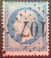 FD/3217 - NAPOLEON III N°22 - GC 107 : ANICHE (Nord) INDICE 4 - PIQUAGE DECALE - 1862 Napoleon III