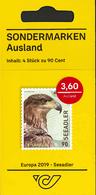 H01 Austria 2019  Europa 2019 - White-Tailed Eagle MNH Postfrisch Booklet - 2011-... Nuevos & Fijasellos