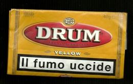Busta Di Tabacco - Drum Yellow  Da 40g - Etichette