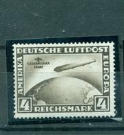 Deutsches Reich, Zeppelin über Weltkugel, Nr.439 Y Falz *, Geprüft BPP - Ungebraucht