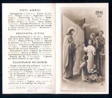 CALENDARIETTO  SANTINO ORIGINALE DEL 1941 - LIBRERIA BONONIA A BOLOGNA - HOLY CARD ( H228 ) - Santini