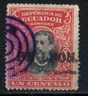 Equateur 1901 Arcas Torres 1c Red And Black N° 127  See Cancellation - Ecuador