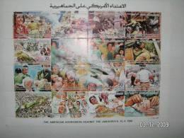 Libya, American Agression Sheetlet Of 16 Stamps- 1986-MNH - SKRILL PAYMENT ONLY - Libya