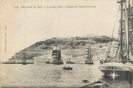 76 FECAMP  L'avant Port Départ De Terre-neuviers  2 Scans - Fécamp
