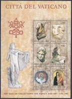 Vatikan Vatican 1983 Kunst Arts Kultur Culture Kunstwerke Antike Etrusker Pferdekopf Apollo Moses Madonna, Bl. 6 ** - Vatikan