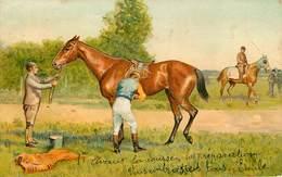 Sports - Hippisme - Hippodrome - Courses De Chevaux - Carte Gaufrée - Illustrateur - 2 Scans - état - Horse Show