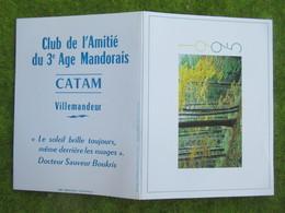 """Calendrier De Poche 1995 """"CATAM"""" (Club De L'Amitié Du 3è Age Mandorais  Villemandeur Loiret - Calendars"""