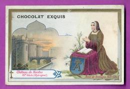 Chromo Image CHOCOLAT EXQUIS -  Roi Reine France - Anne De Bretagne 1476 1514 Château De Nantes XV E Siècles - Unclassified