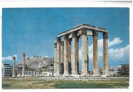 Grecia Hellas Greece Athens Temple Of Jupiter Atene Tempio Di Giove  Viaggiata 1970 Condizioni Come Da Scansione - Grecia