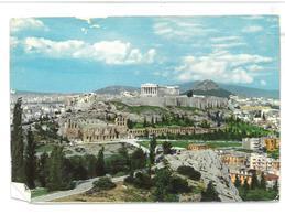 Grecia Hellas Greece Athens View Of The Acropolis Atene Vista Dell'Acropoli Non Viaggiata Condizioni Come Da Scansione - Grecia