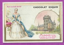 Chromo Image CHOCOLAT EXQUIS -  Roi Reine France - Marie Leczinska 1703 1788 Château De Rambouillet - Unclassified