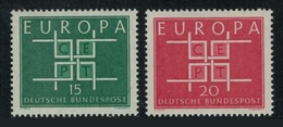 Allemagne 1963 Yvert 278/279 ** Europa 1963 - Europa-CEPT