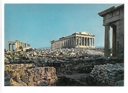 Grecia Hellas Greece Athens Acropolis The Parthenon And Erechtheion Seen From Propylaea Atene Acropoli Il Partenone E L' - Grecia